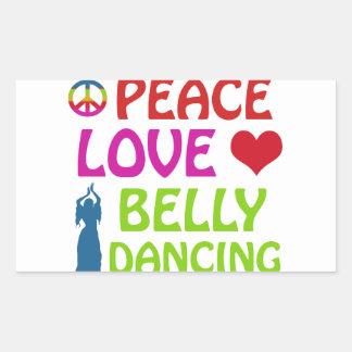 Design da dança do ventre adesivo em forma retangular