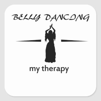 Design da dança do ventre adesivo em forma quadrada