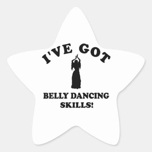 Design da dança do ventre adesivos estrelas