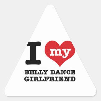 Design da dança do ventre adesivo triângulo