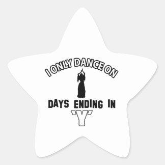 Design da dança do ventre adesivo estrela