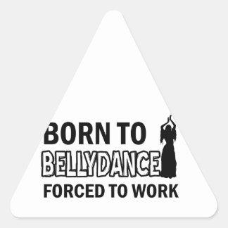 Design da dança do ventre adesivo em forma de triângulo