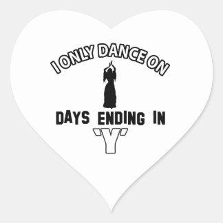 Design da dança do ventre adesivos em forma de corações