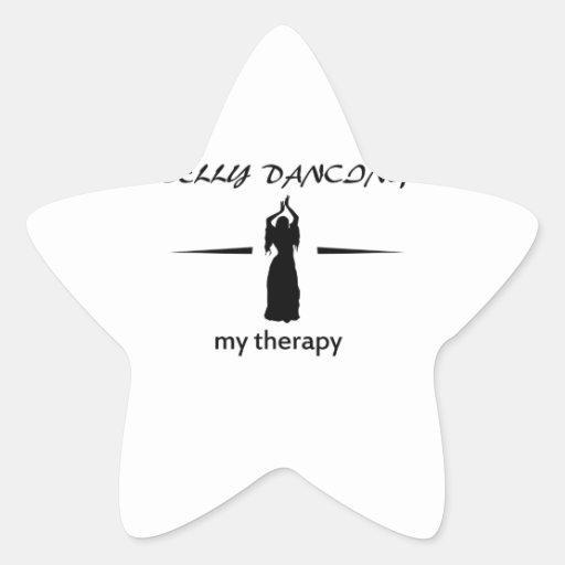 Design da dança do ventre adesivos em forma de estrelas