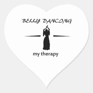 Design da dança do ventre adesivo de coração
