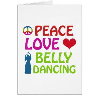 Design da dança do ventre cartão