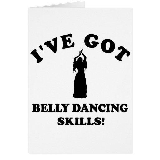 Design da dança do ventre cartao