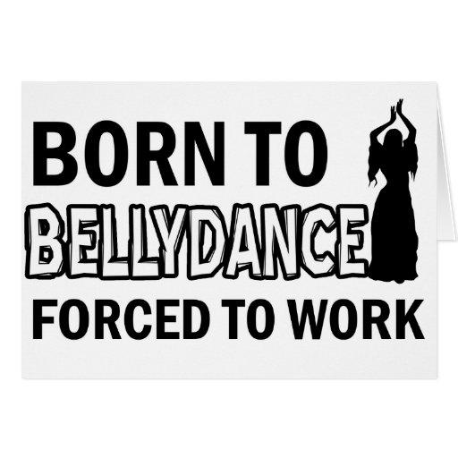 Design da dança do ventre cartoes