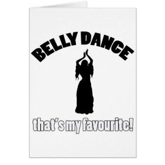 design da dança do ventre cartão comemorativo
