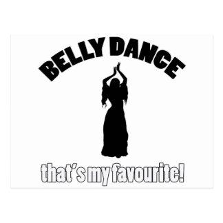 design da dança do ventre cartão postal