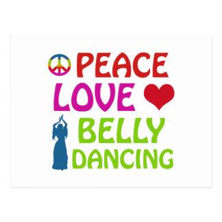 Design da dança do ventre cartoes postais