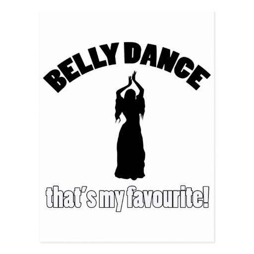 design da dança do ventre cartao postal