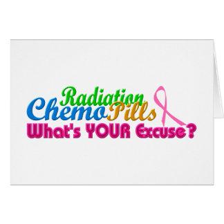 Design da desculpa de Chemo do cancro da mama Cartão Comemorativo