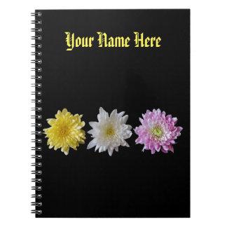 Design da flor do caderno