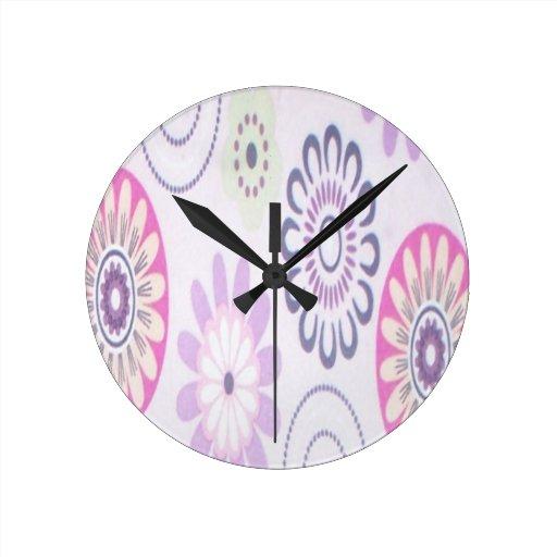 design da flor dos anos 60 relógios de paredes
