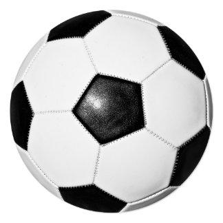 Design da foto da bola de futebol convite quadrado 13.35 x 13.35cm