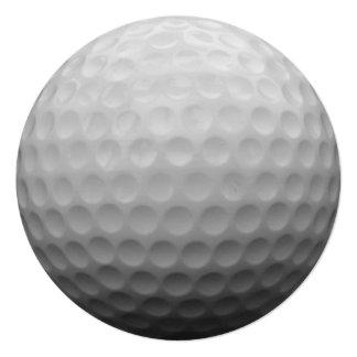 Design da foto da bola de golfe convite quadrado 13.35 x 13.35cm