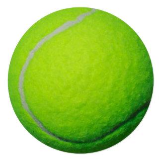 Design da foto da bola de tênis convite quadrado 13.35 x 13.35cm