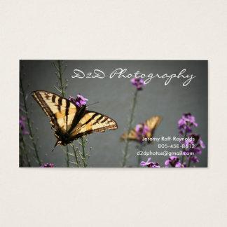 Design da foto da borboleta cartão de visitas
