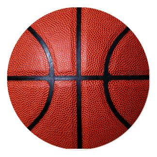 Design da foto do basquetebol convite quadrado 13.35 x 13.35cm
