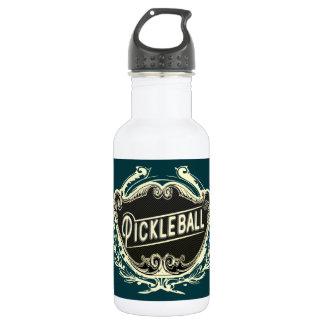 Design da garrafa de água do vintage de Pickleball
