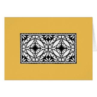 Design da grade do ferro, 1912; Estilo modernista Cartão Comemorativo