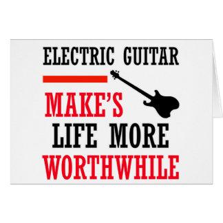 design da guitarra elétrica cartão