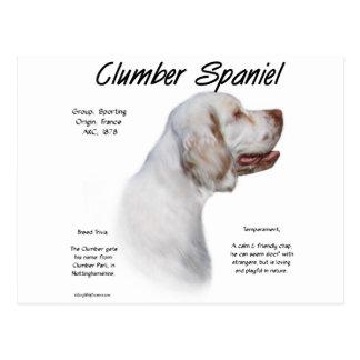 Design da história do Spaniel de Clumber Cartão Postal