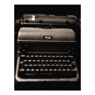 Design da máquina de escrever do vintage convites personalizado