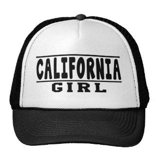 Design da menina de Califórnia Bonés
