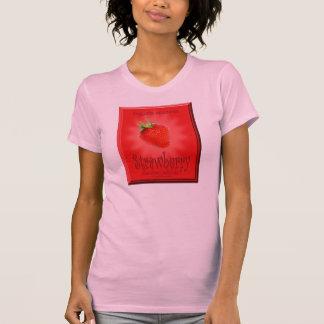 Design da morango da cozinha camiseta