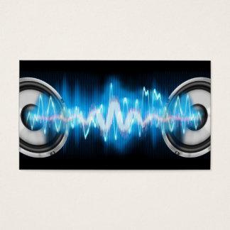 design da música cartão de visitas
