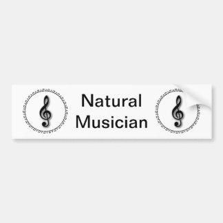 Design da nota da música do Clef de triplo Adesivos