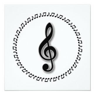 Design da nota da música do Clef de triplo Convites
