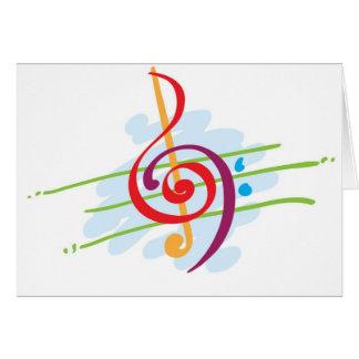 Design da nota musical cartão comemorativo