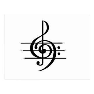 Design da nota musical cartão postal