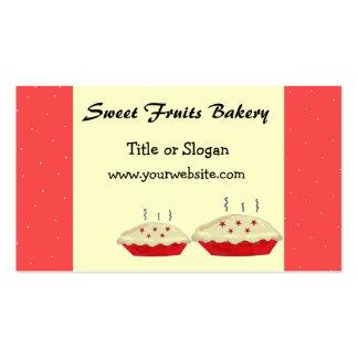 Design da padaria das frutas do doce cartão de visita