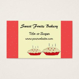 Design da padaria das frutas do doce cartão de visitas