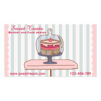 Design da padaria e do bolo, deleites do doce cartão de visita