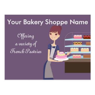Design da padaria/loja de pastelaria 4 cartão postal