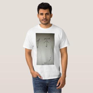 Design da pesca do caráter chinês camiseta