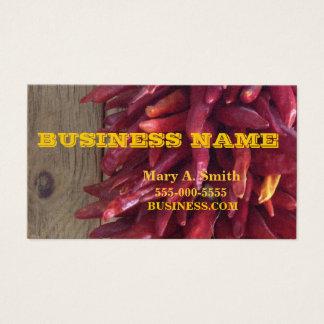 Design da pimenta de pimentão cartão de visitas