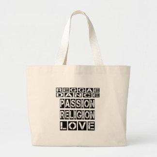 Design da reggae sacola tote jumbo