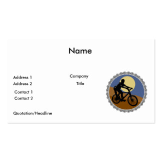 design da roda dentada chain do Mountain bike Modelos Cartões De Visitas