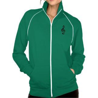 Design da roupa do Clef de triplo da nota musical Jaqueta Com Estampa