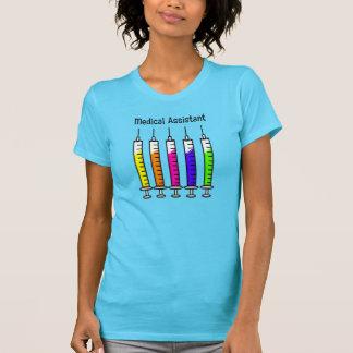 Design da seringa dos t-shirt do assistente médico camiseta