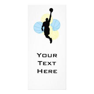 design da silhueta do voleibol dos homens panfleto personalizado