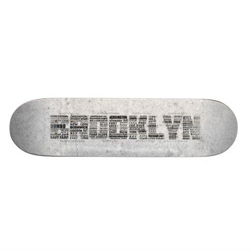 Design da tipografia de Brooklyn NY Skates
