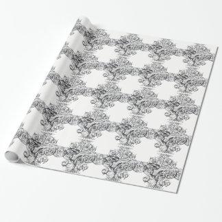 Design da tipografia do rolo do vintage papel de presente