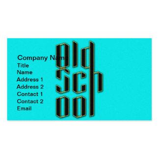 Design da velha escola da cerceta cartão de visita